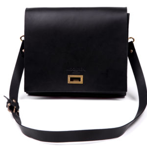 Charcoal leather crossbody bag b42dfc6f9e51f